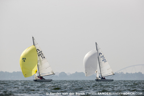 Soling Worlds 2017, Muiden, the Netherlands. September 20th 2017. Photo © Sander van der Borch.